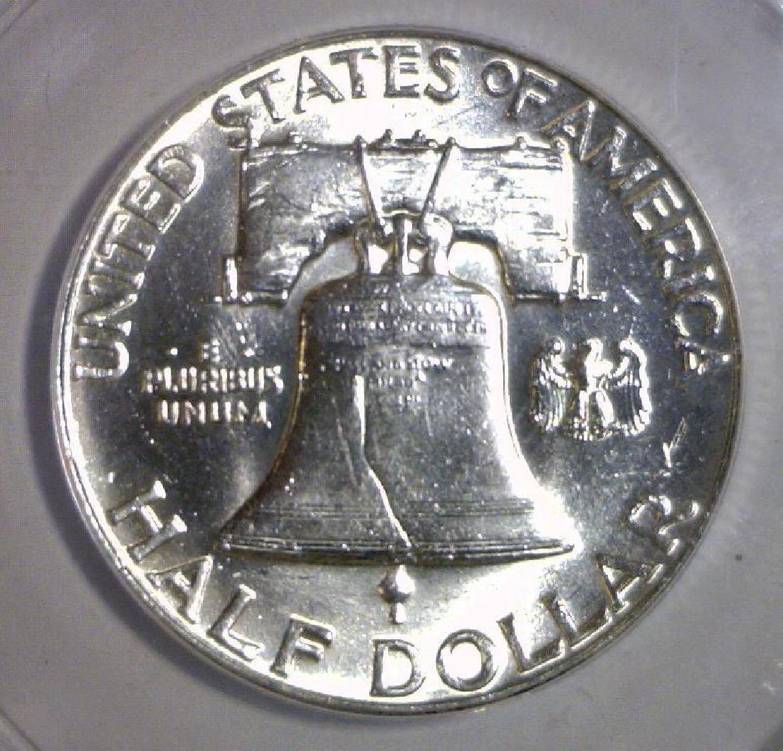 1949 Franklin Silver Half ANACS MS62 FBL Full Bell - 3