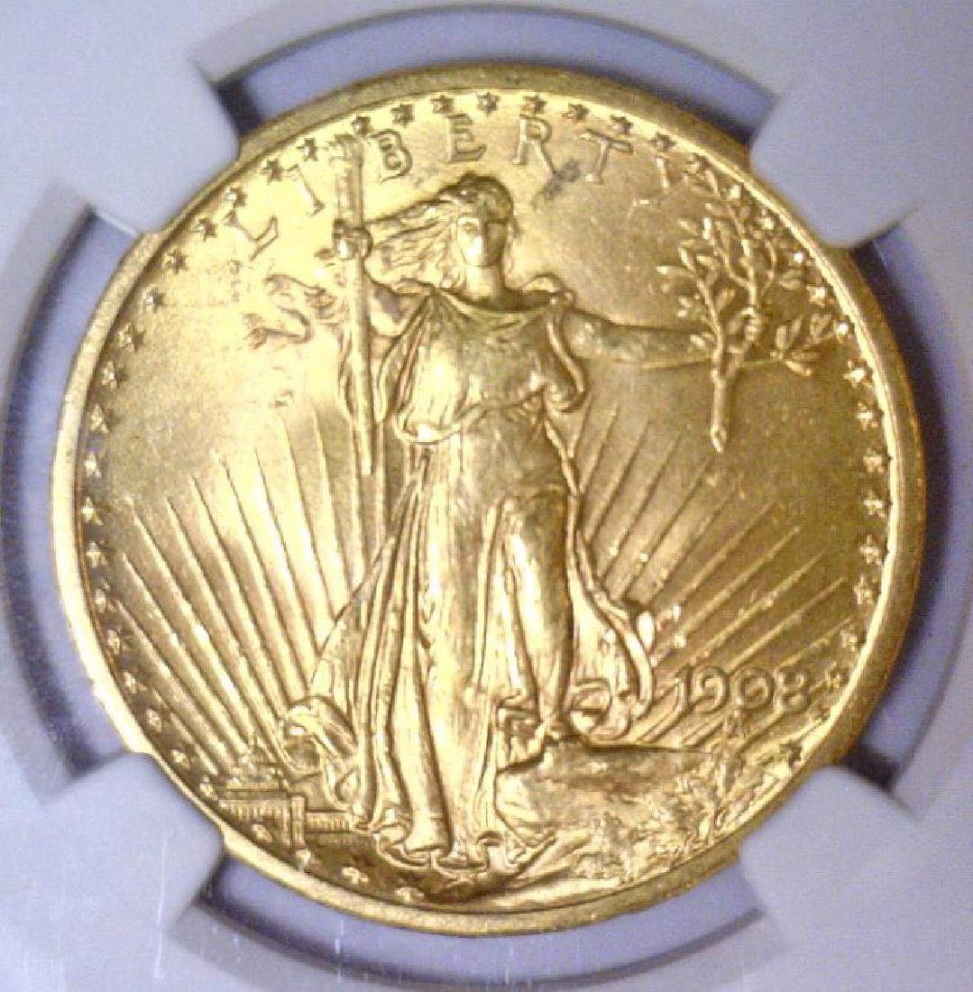 1908 NO MOTTO $20 Saint Gaudens NGC UNC Details