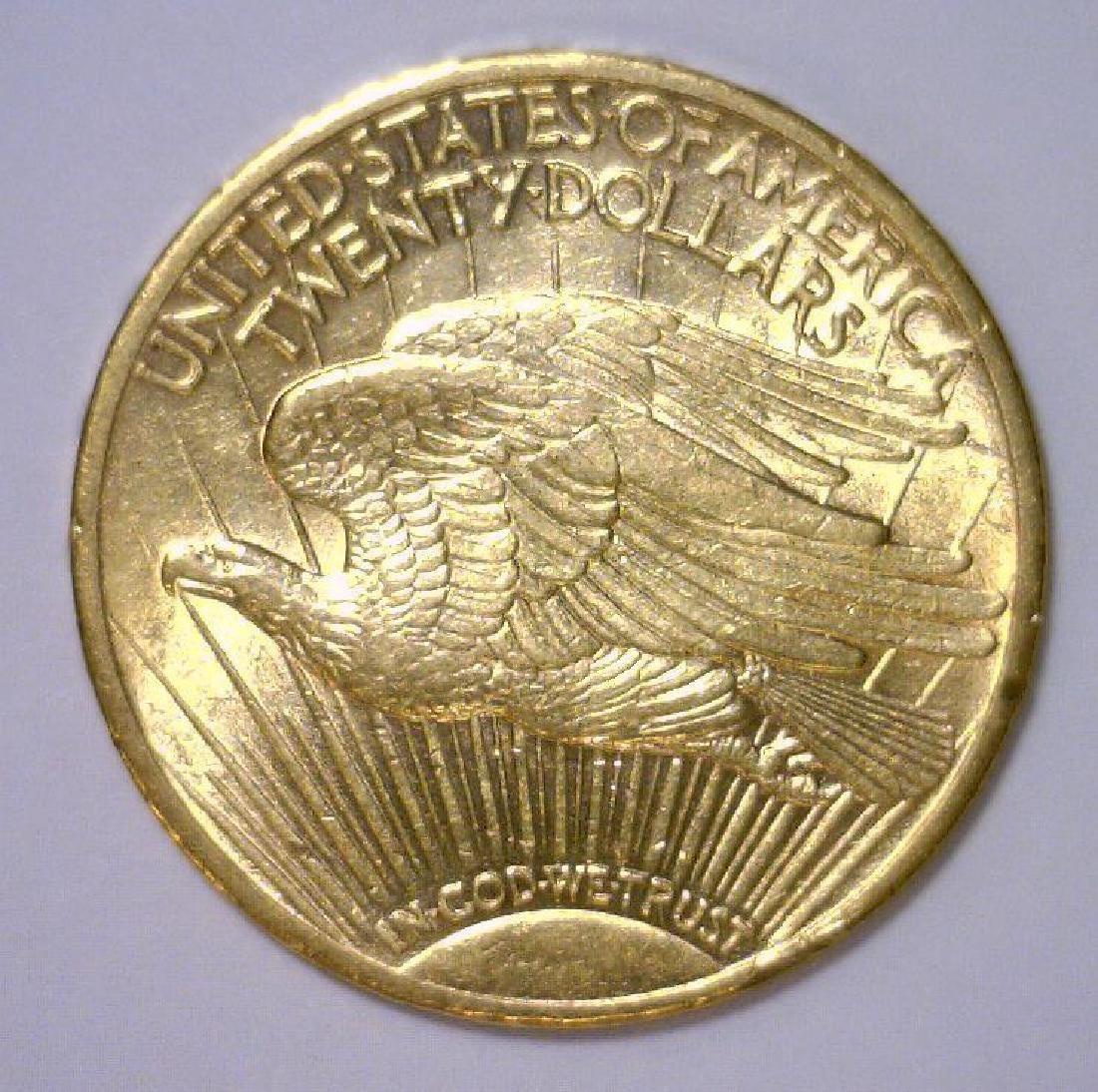 1914-S $20 Saint Gaudens Gold Double Eagle AU - 2