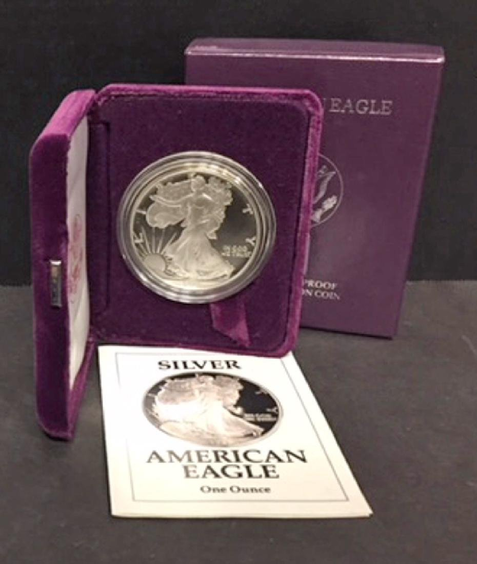 1991 Silver American Eagle Proof with Box & COA - 2