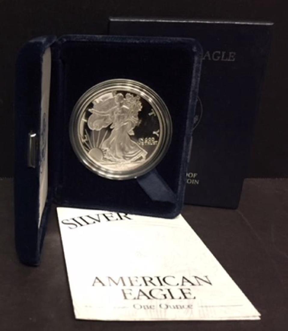 1998 Silver American Eagle Proof with Box & COA - 2