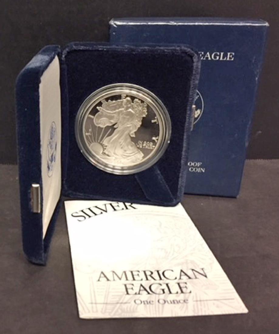 2003 Silver American Eagle Proof with Box & COA - 2