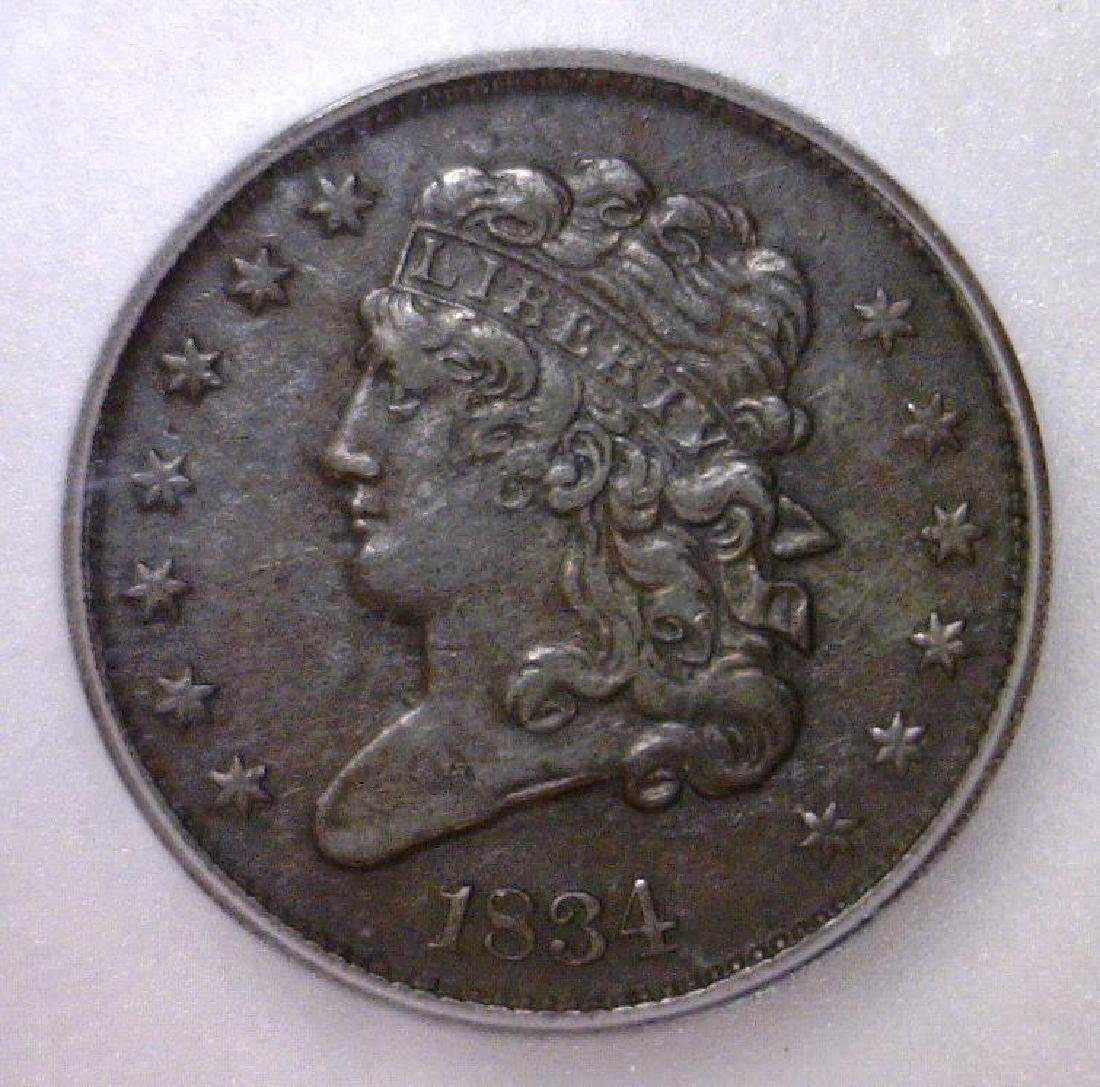 1834 Classic Head Half Cent ICG VF20 Details