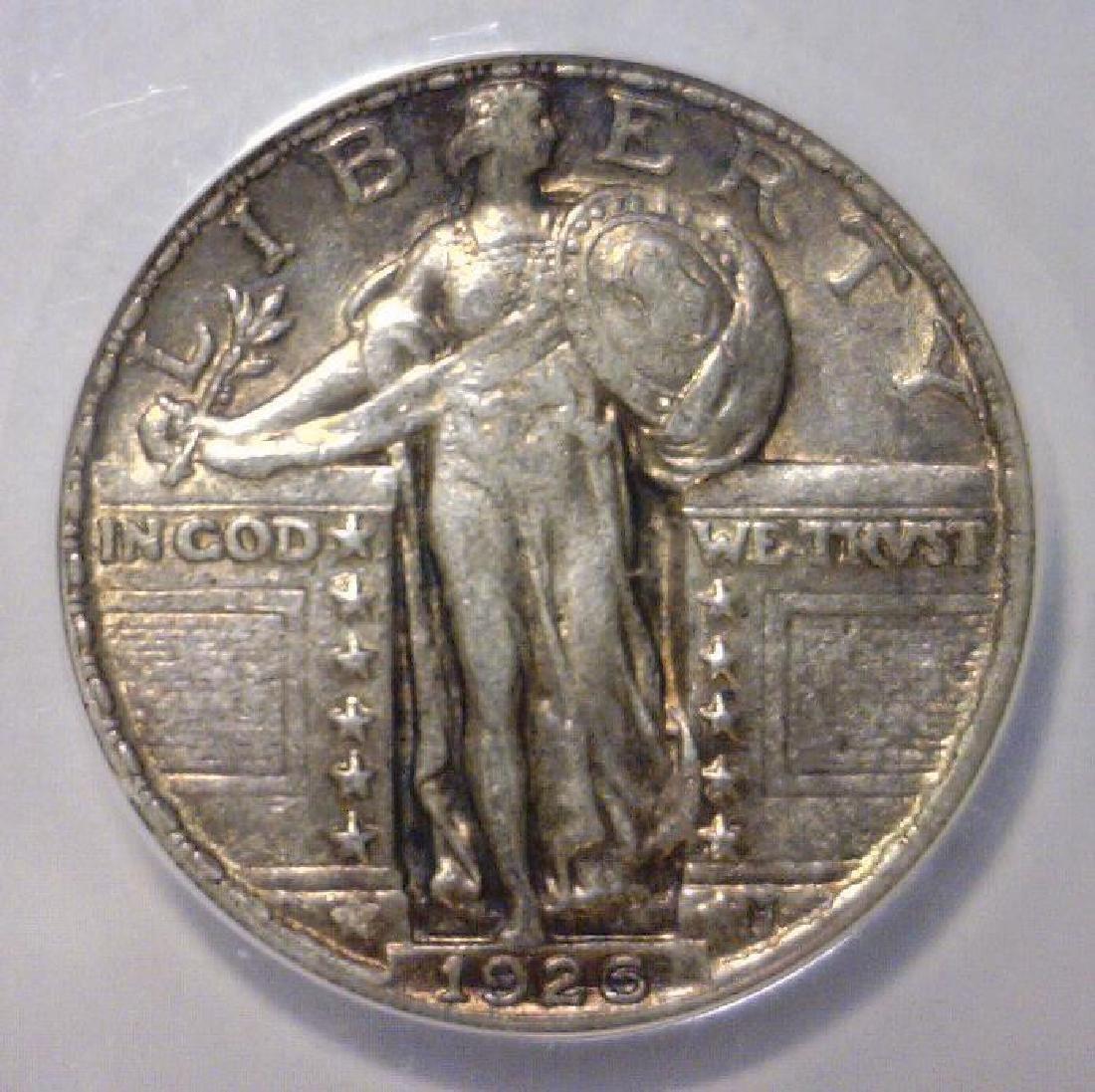1926 Standing Liberty Silver Quarter ANACS XF EF45