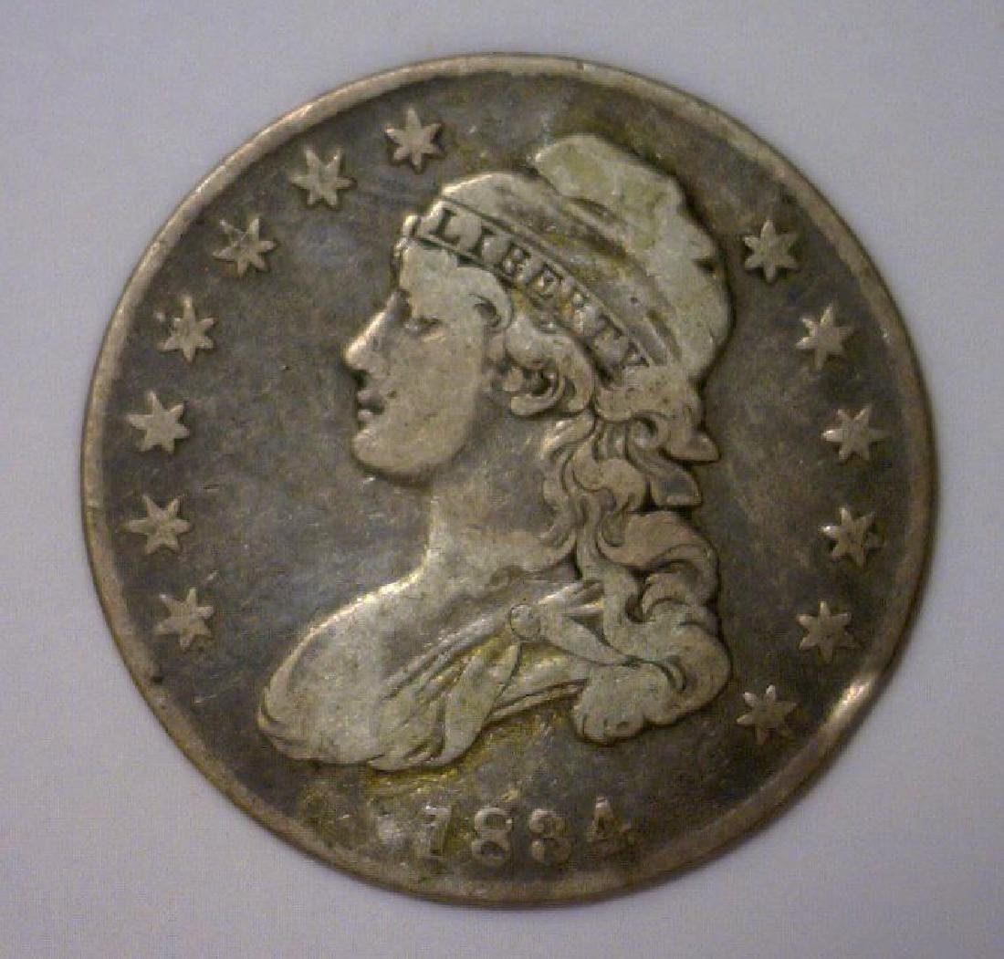 1834 Capped Bust Silver Half Fine+