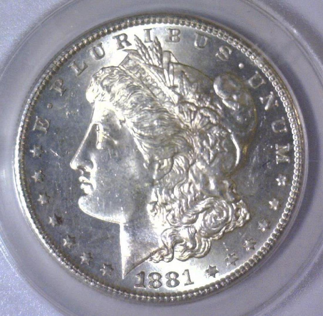 1881-S Morgan Silver Dollar ANACS MS63