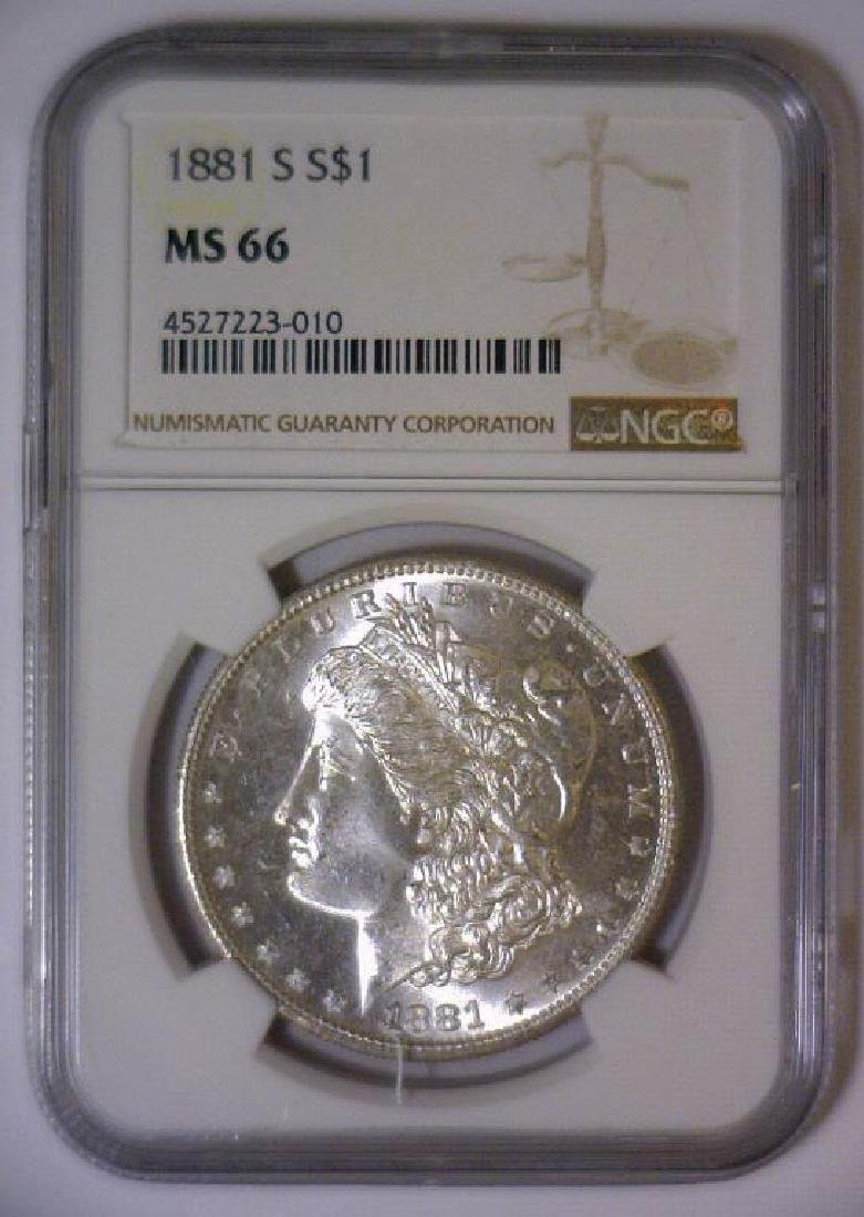 1881-S Morgan Silver Dollar NGC MS66 - 2