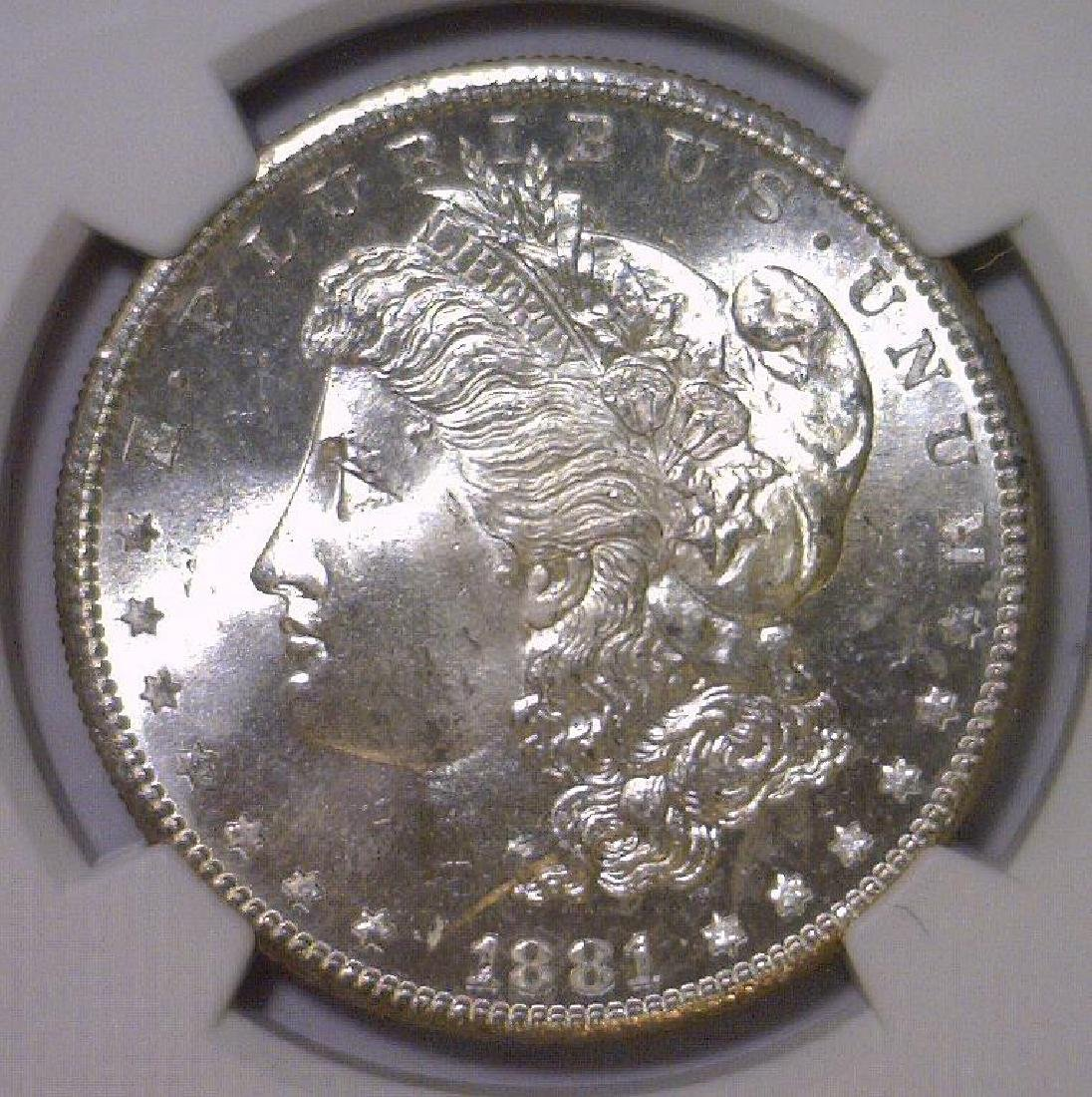 1881-S Morgan Silver Dollar NGC MS66