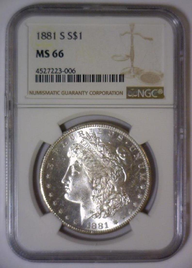1881-S Morgan Silver Dollar NGC MS66 - 2