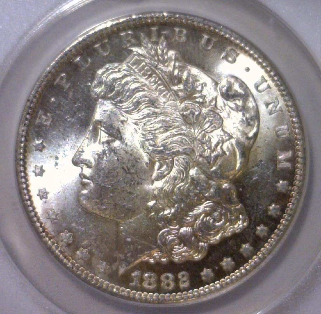 1882-S Morgan Silver Dollar ANACS MS63