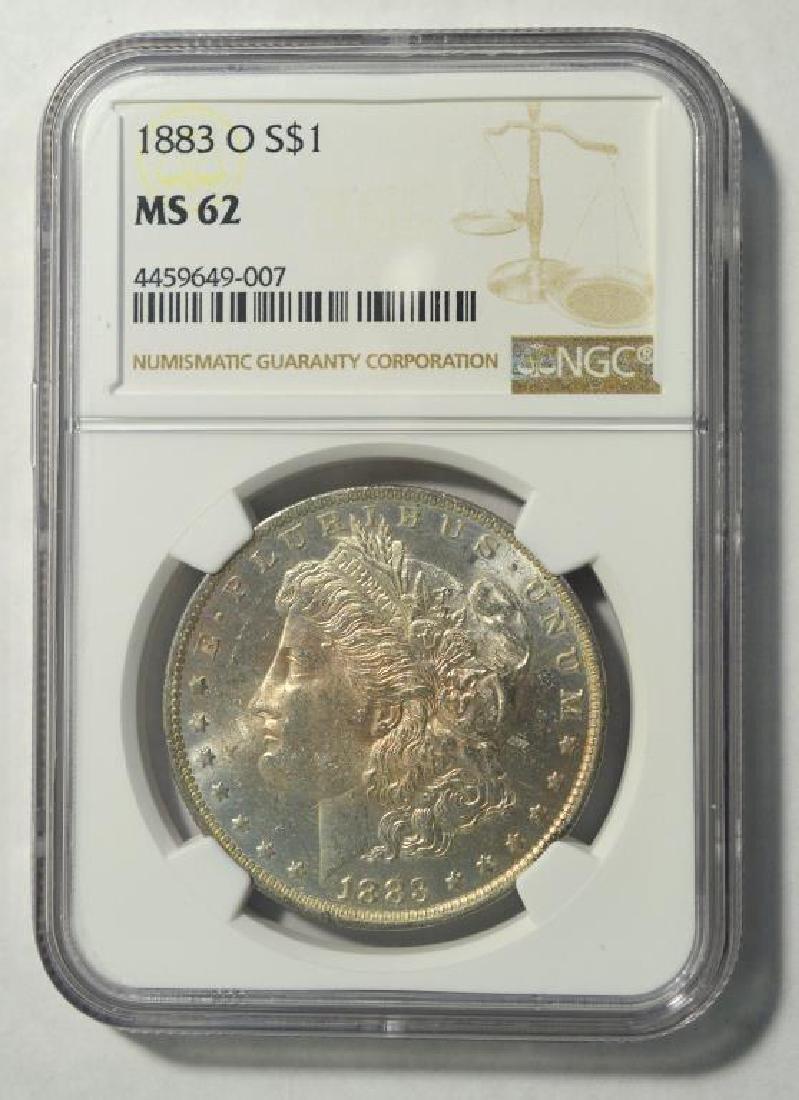 1883-O Morgan Silver Dollar NGC MS 62 - 2