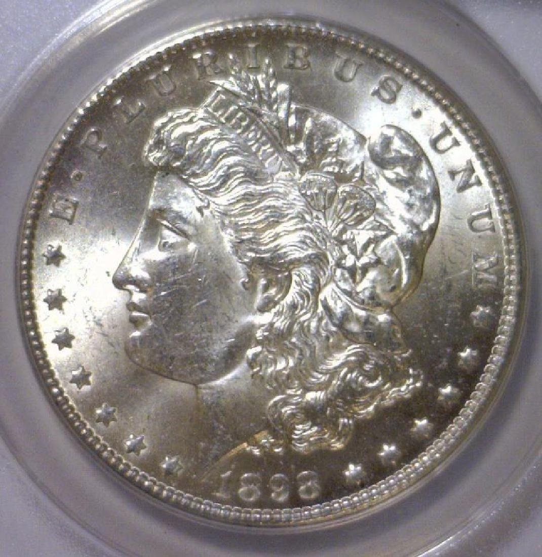1898-O Morgan Silver Dollar ANACS MS63