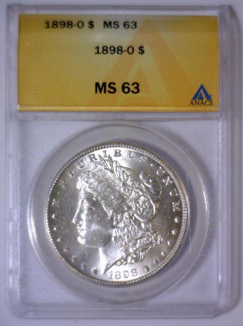 1898-O Morgan Silver Dollar ANACS MS63 - 2