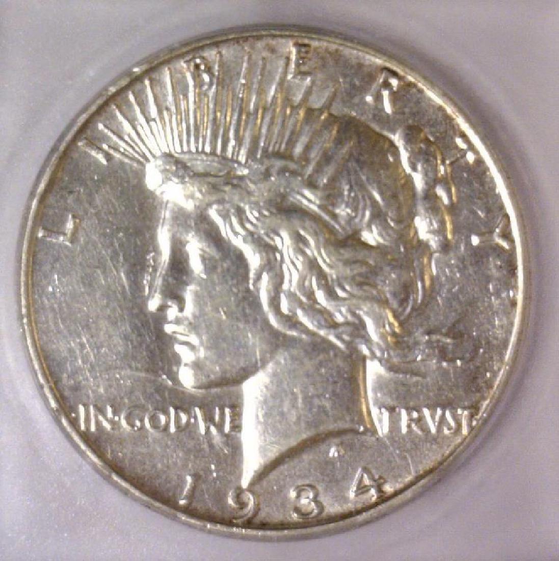 1934-D Peace Silver Dollar ICG AU50