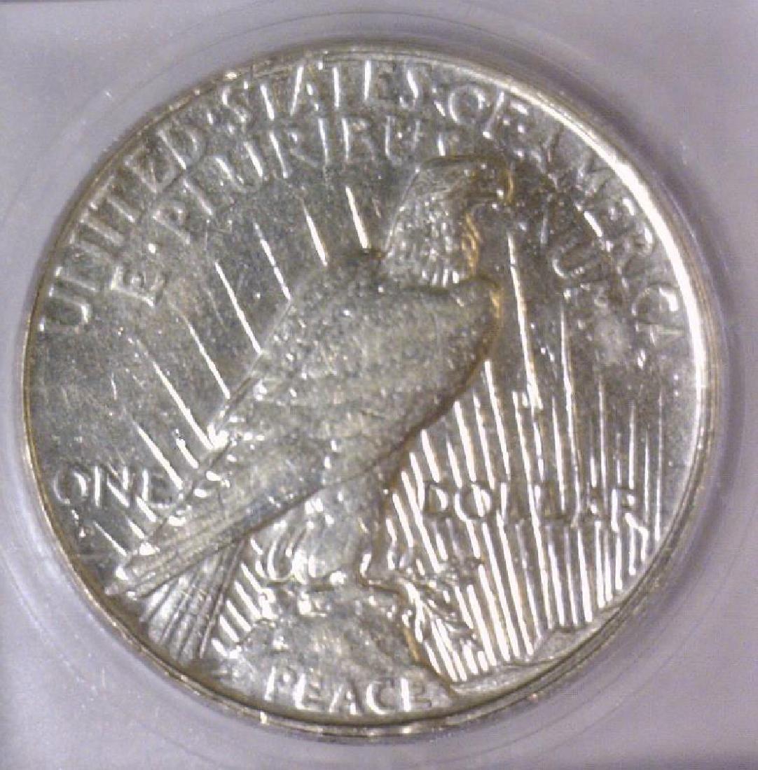 1934-D Peace Silver Dollar ICG AU50 - 3
