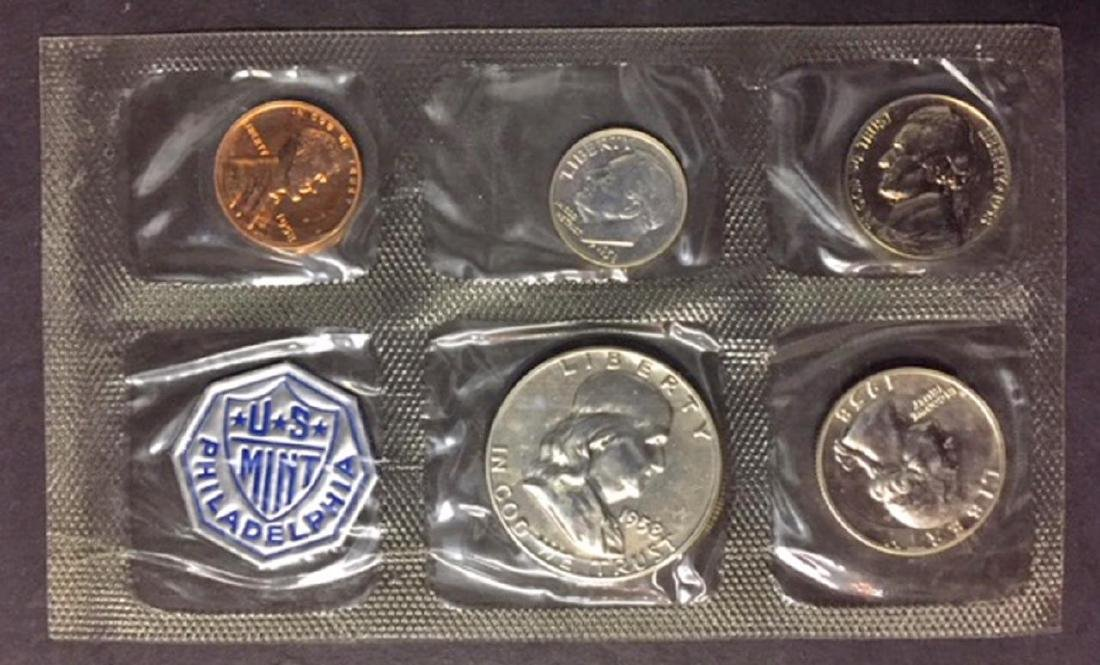 1958 US Silver Proof Set with Envelope