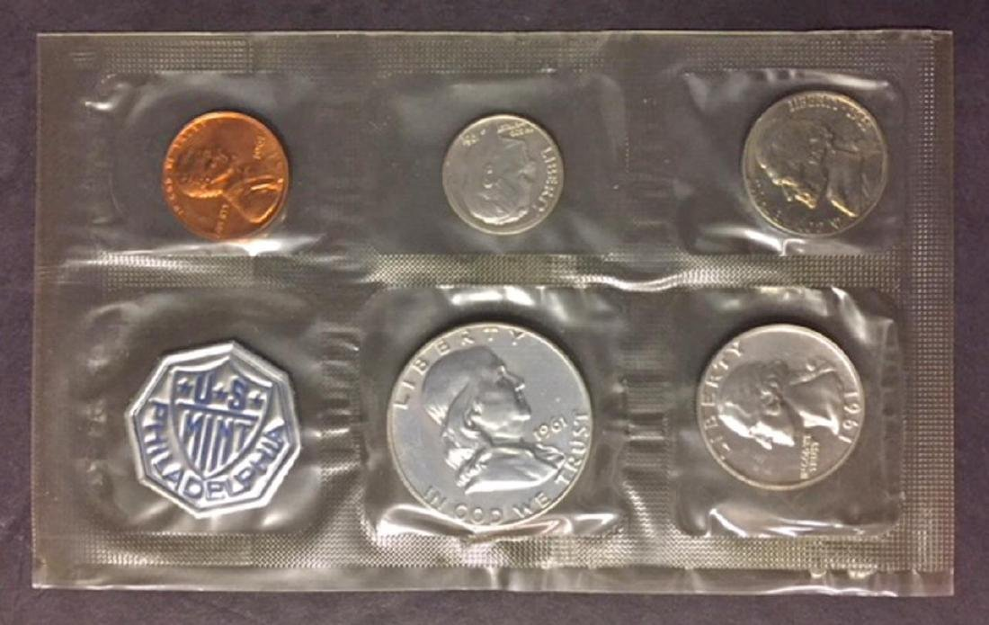 1961 US Silver Proof Set with Envelope