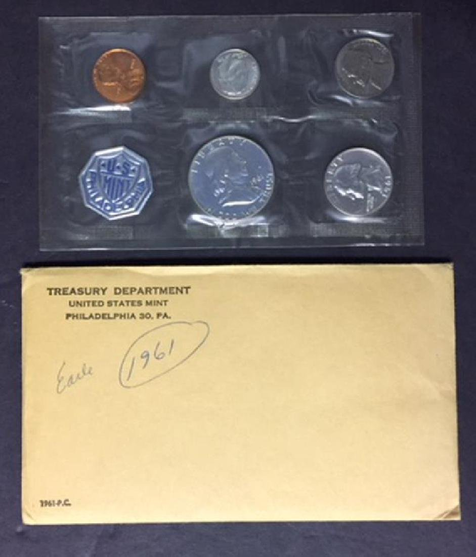 1961 US Silver Proof Set with Envelope - 3