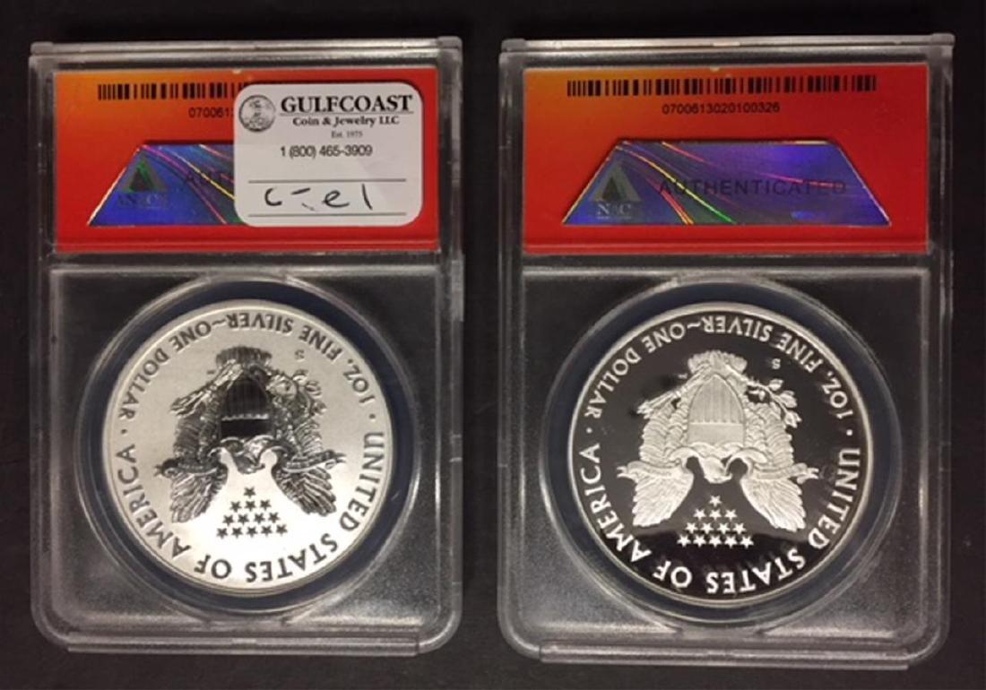2012 Silver Eagle Set Proof & Reverse ANACS PR70 - 2