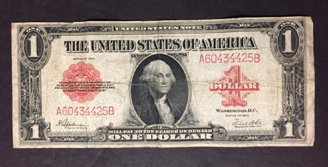 1923 $1 United States Legal Tender Large Note VG