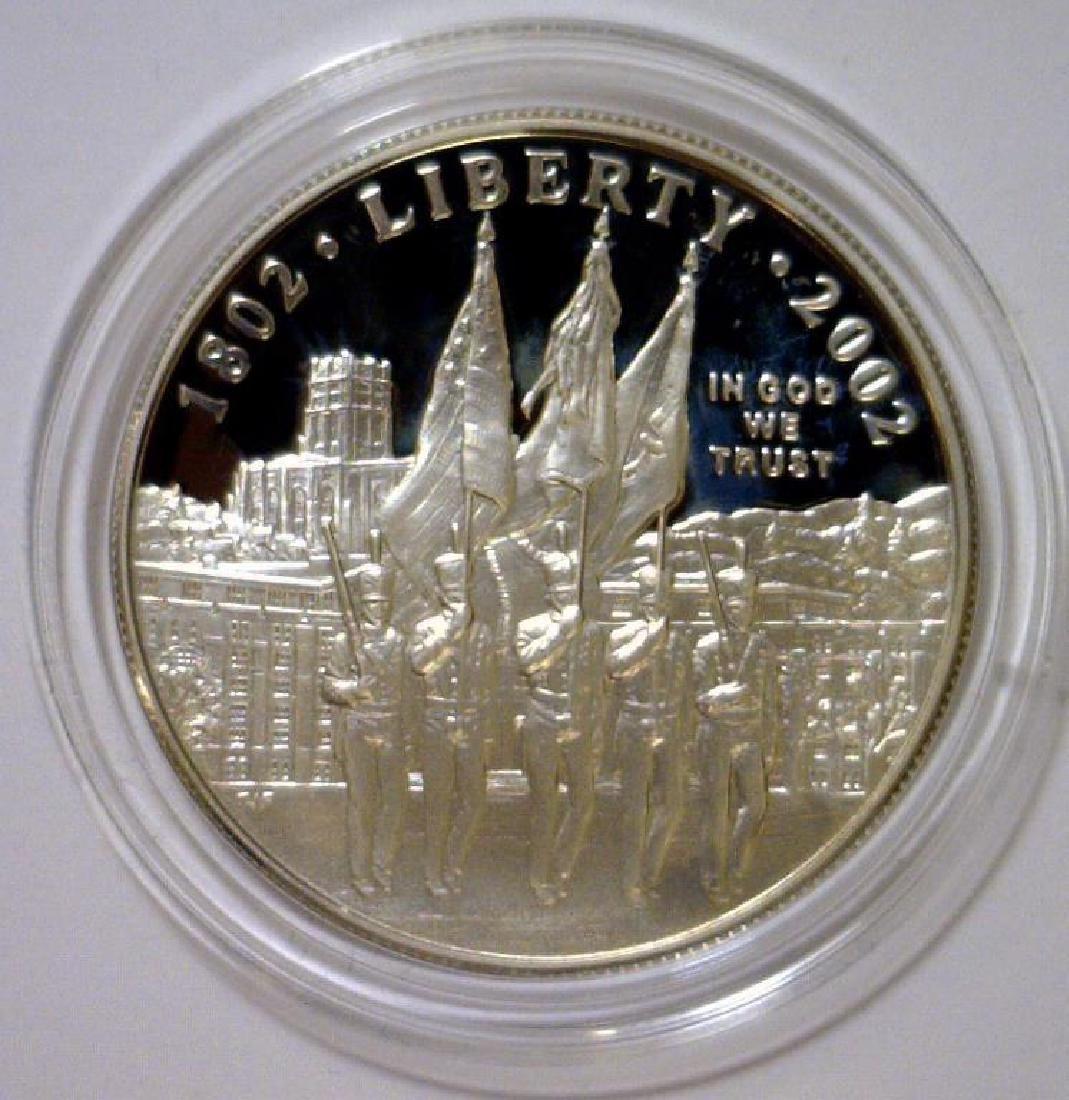 2002 West Point Commem. Silver Proof $1 Box & COA - 3