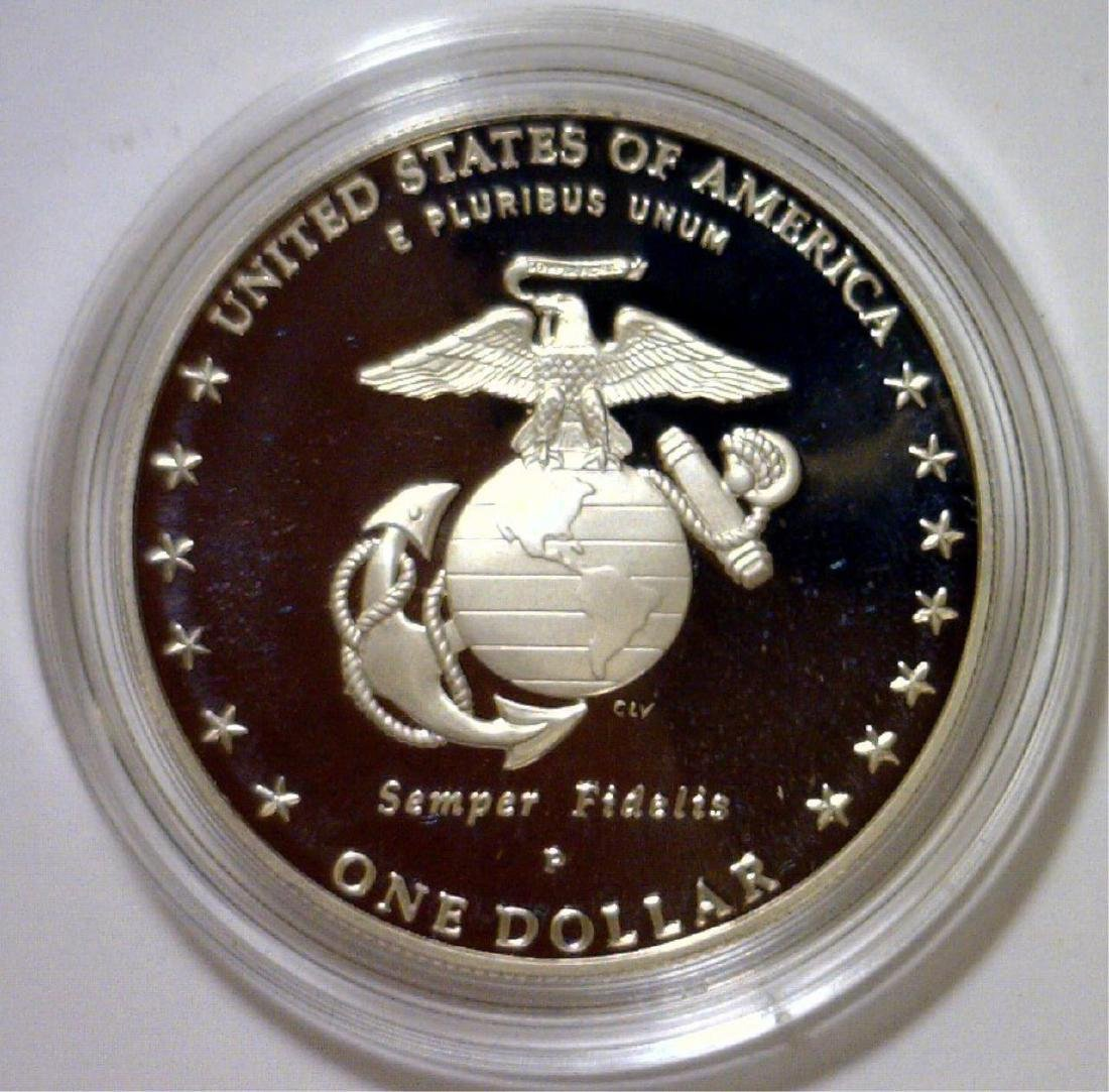 2005 Marines 230th Anniv. Silver Proof $1 OGP - 3