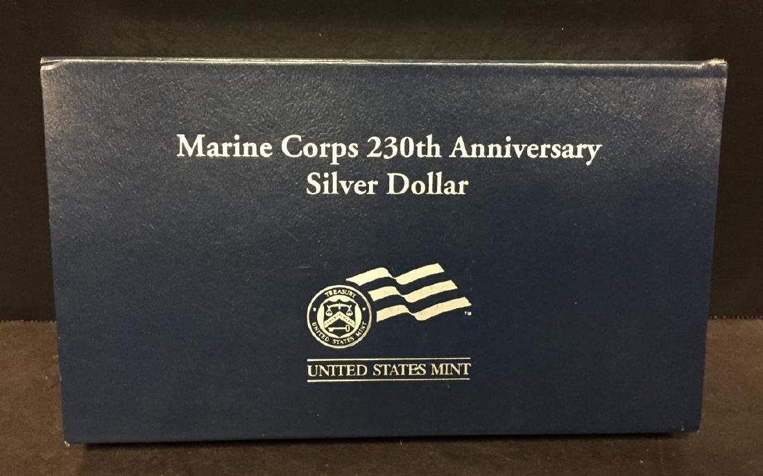 2005 Marines 230th Anniv. Silver Proof $1 OGP - 4
