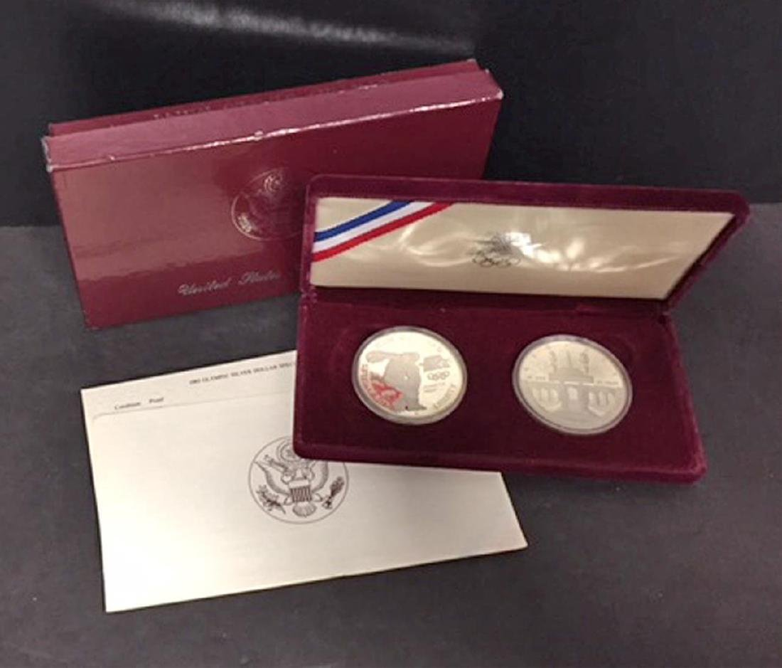 1983 Olympics 2-Dollar Silver Proof Set OGP