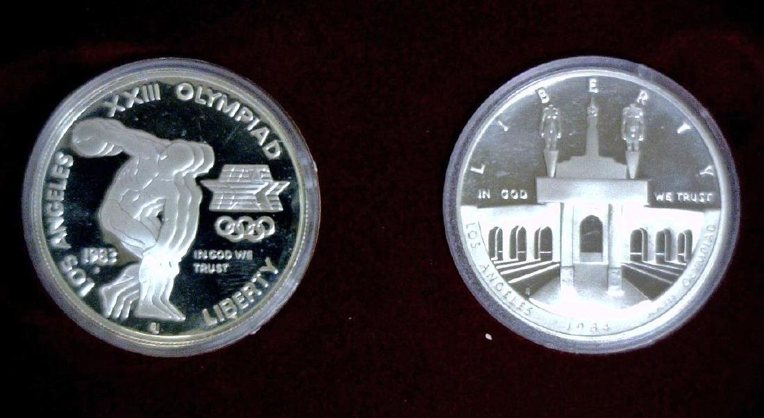 1983 Olympics 2-Dollar Silver Proof Set OGP - 2