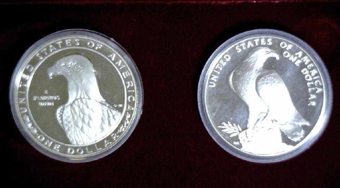 1983 Olympics 2-Dollar Silver Proof Set OGP - 3