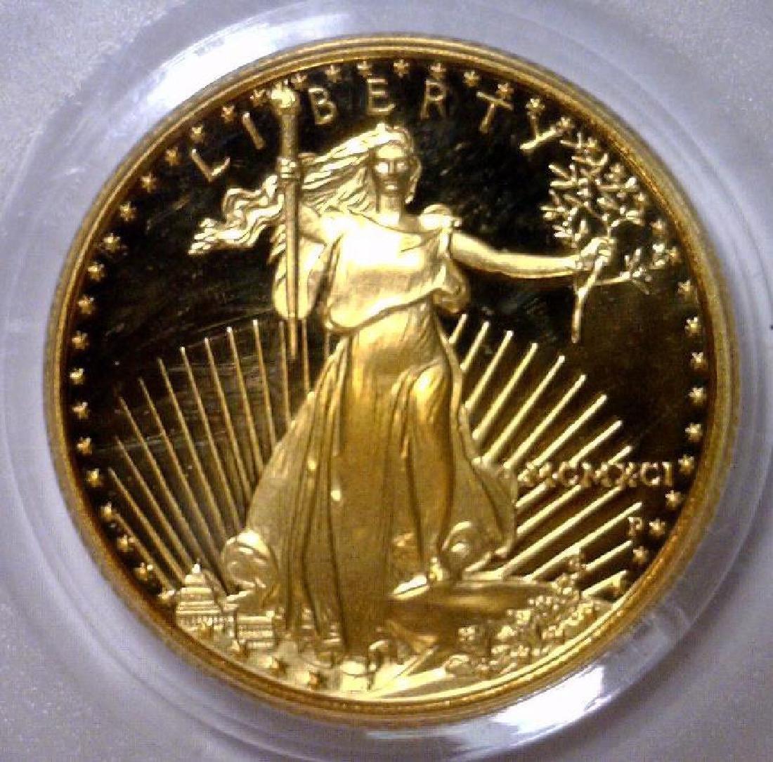 1991 $10 Gold Proof American Eagle PCGS PR69 DCAM