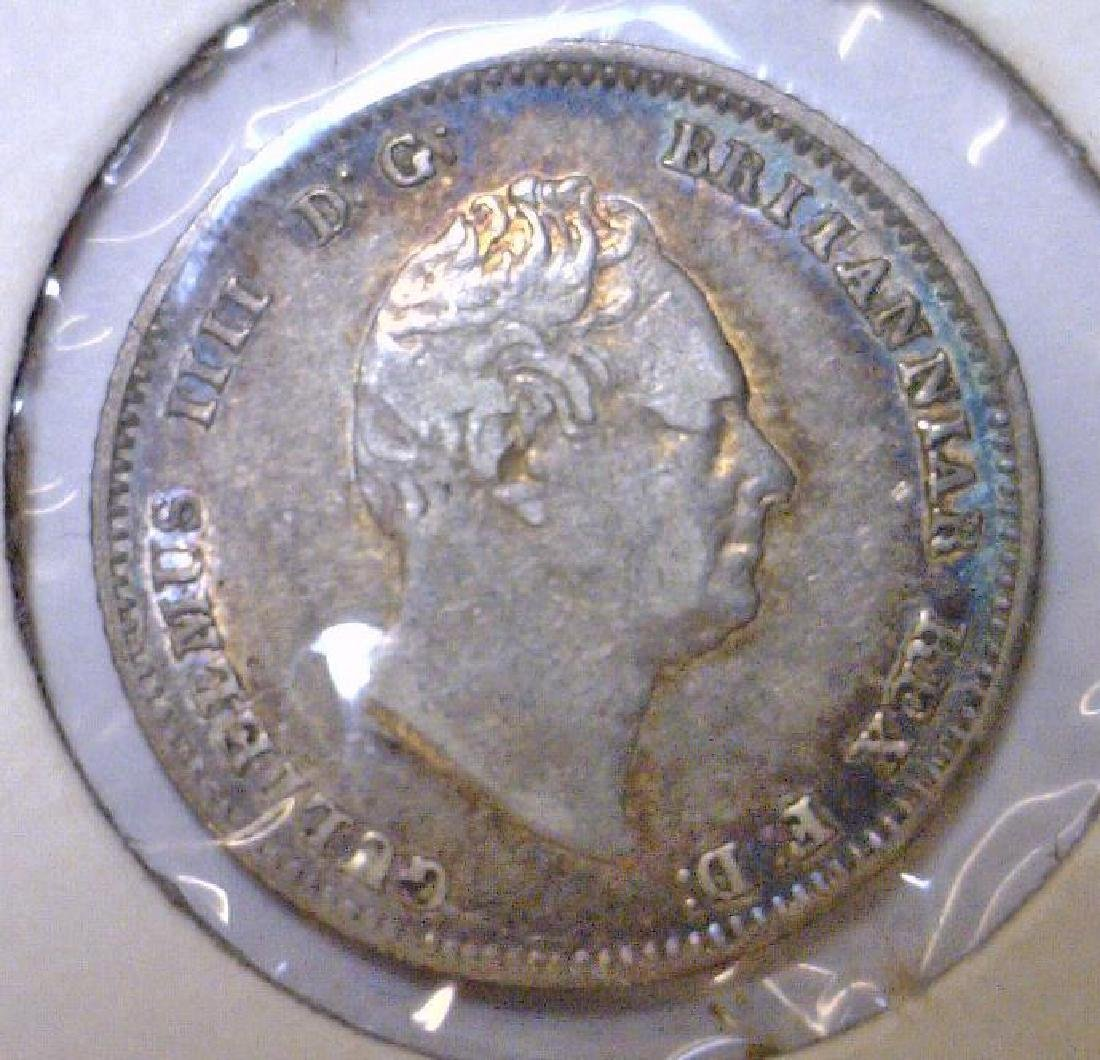 1837 Silver 4 Pence Great Britain KM#723 VF