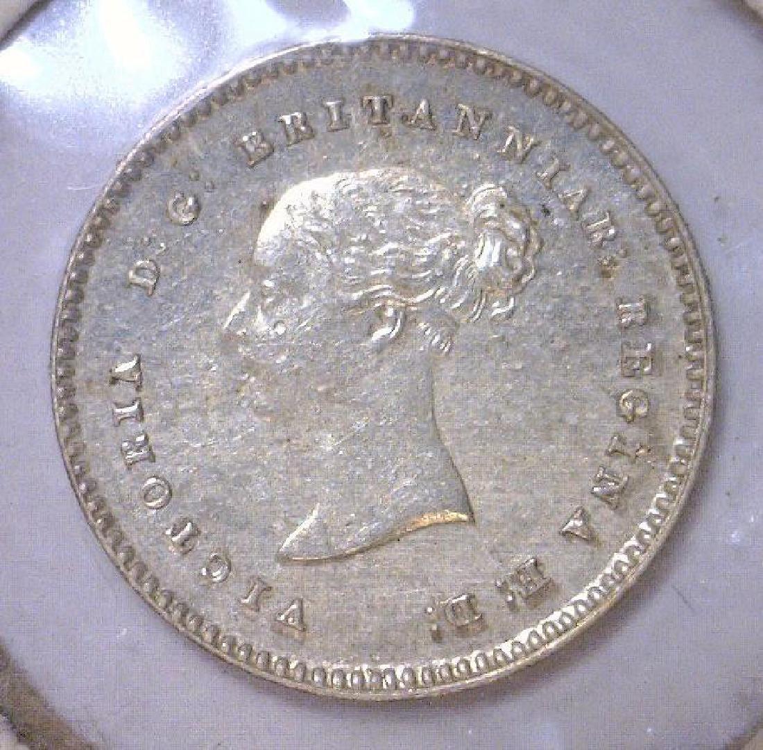 1842 Silver 2 Pence Great Britain KM#729 UNC