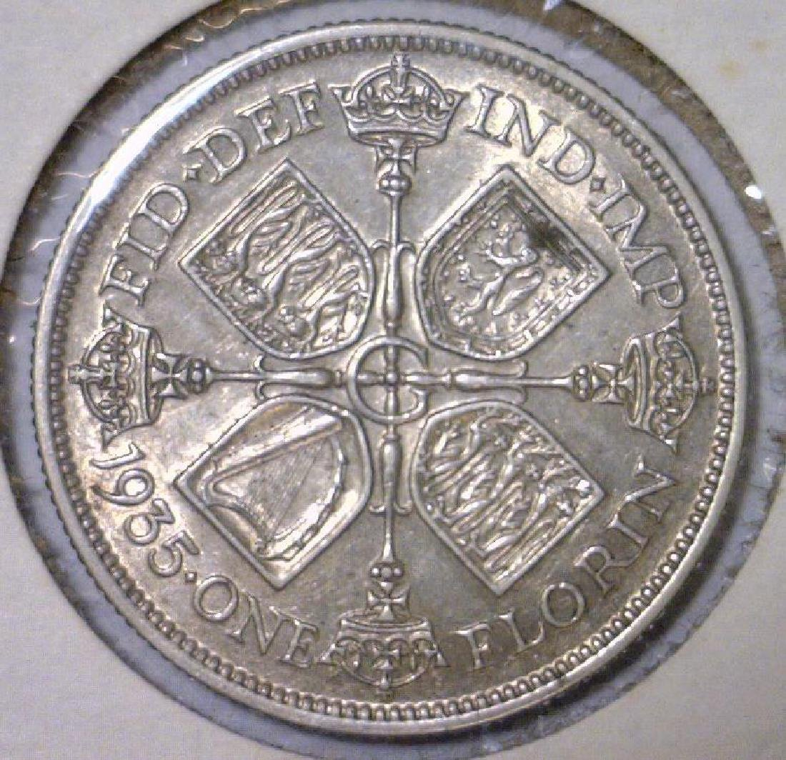 1935 Silver Florin Great Britain KM# 834 XF - 2