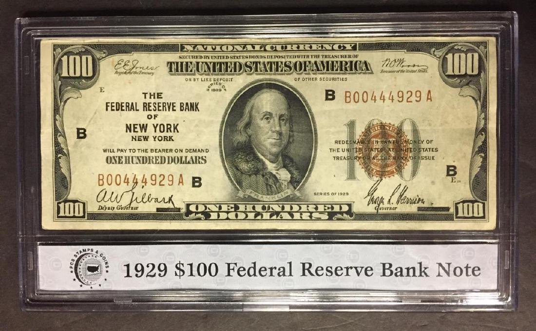 1929-B $100 National Currency FRB New York NY, VF