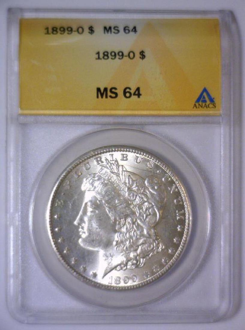 1899-O Morgan Silver Dollar ANACS MS64 - 2