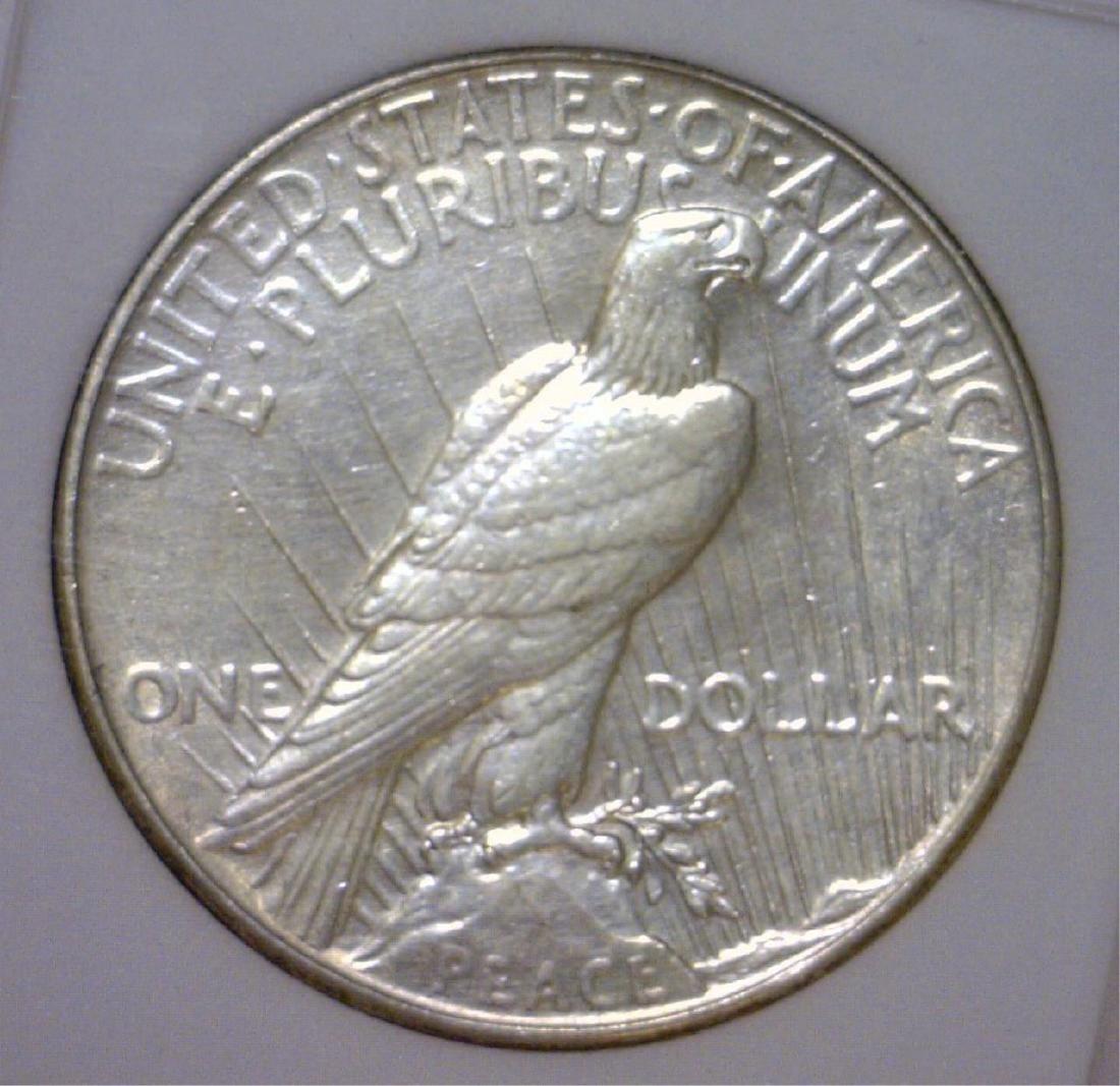 1934 Peace Silver Dollar AU Details - 2