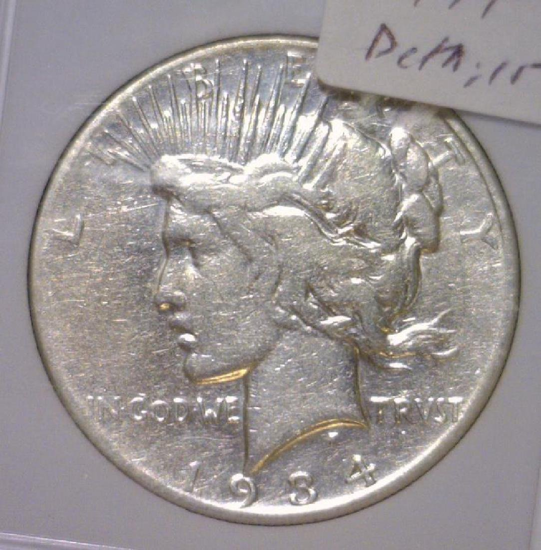 1934-S Peace Silver Dollar Very Fine Details