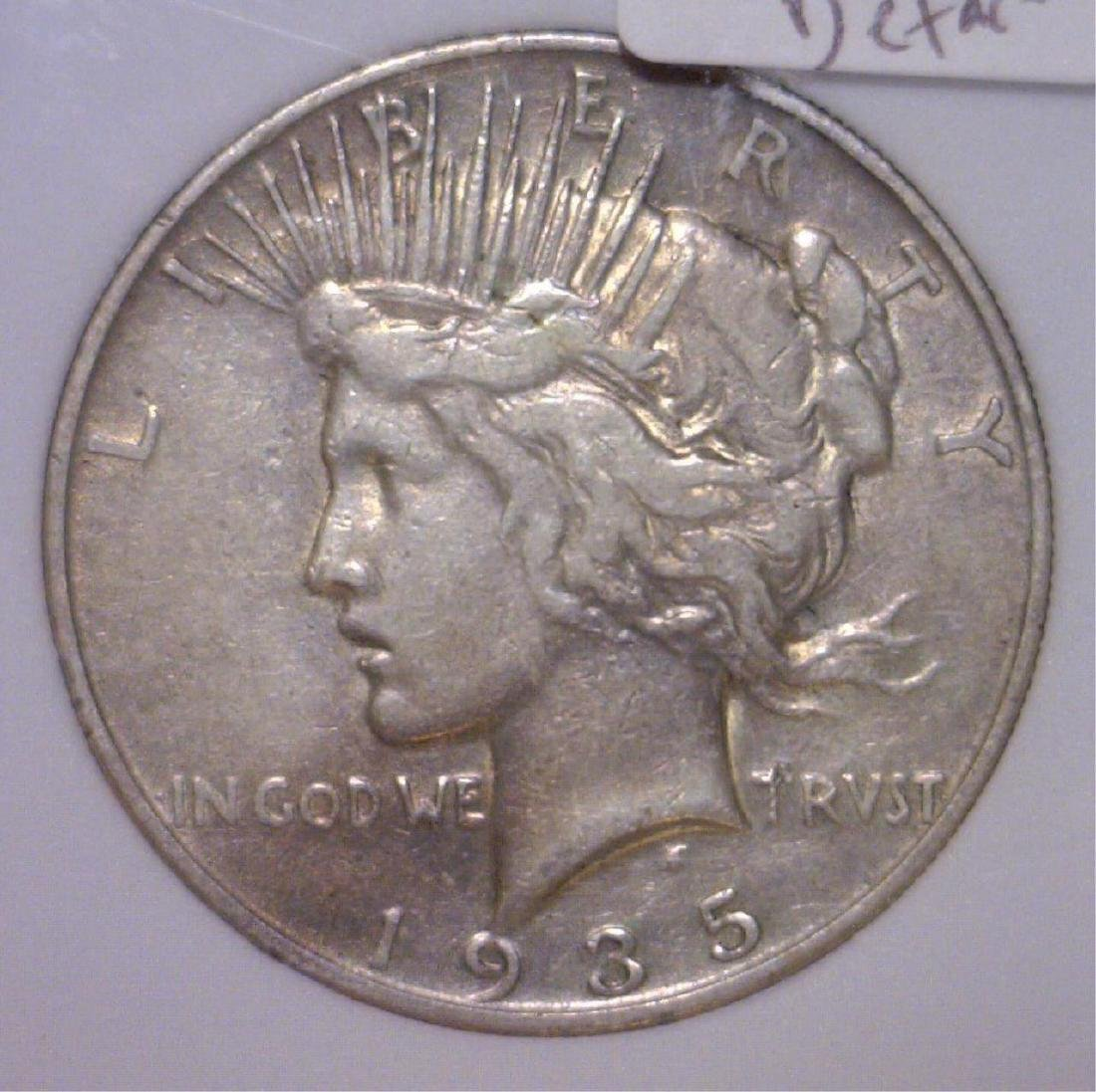 1935-S Peace Silver Dollar F/VF Details