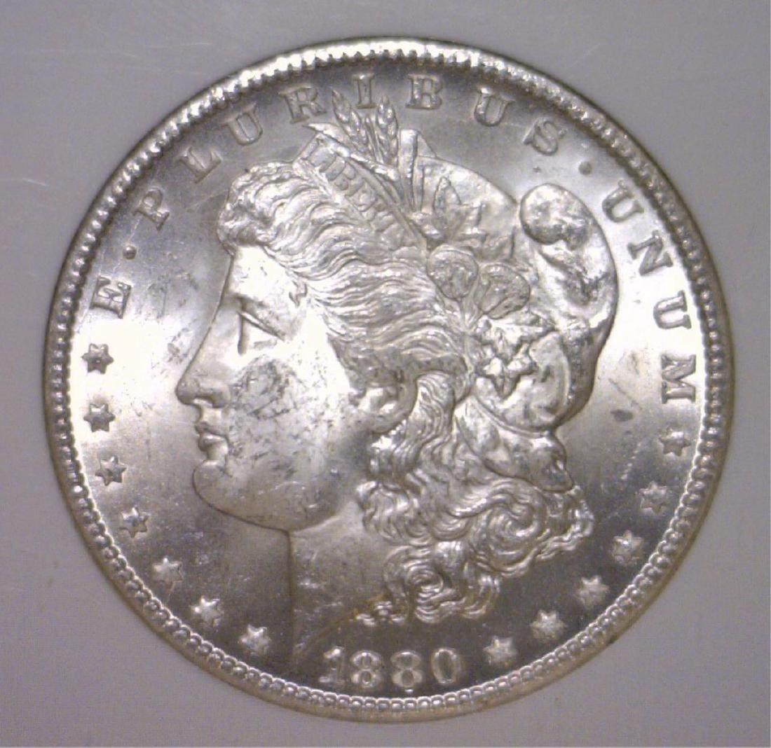 1880-CC Morgan Silver Dollar NGC MS63