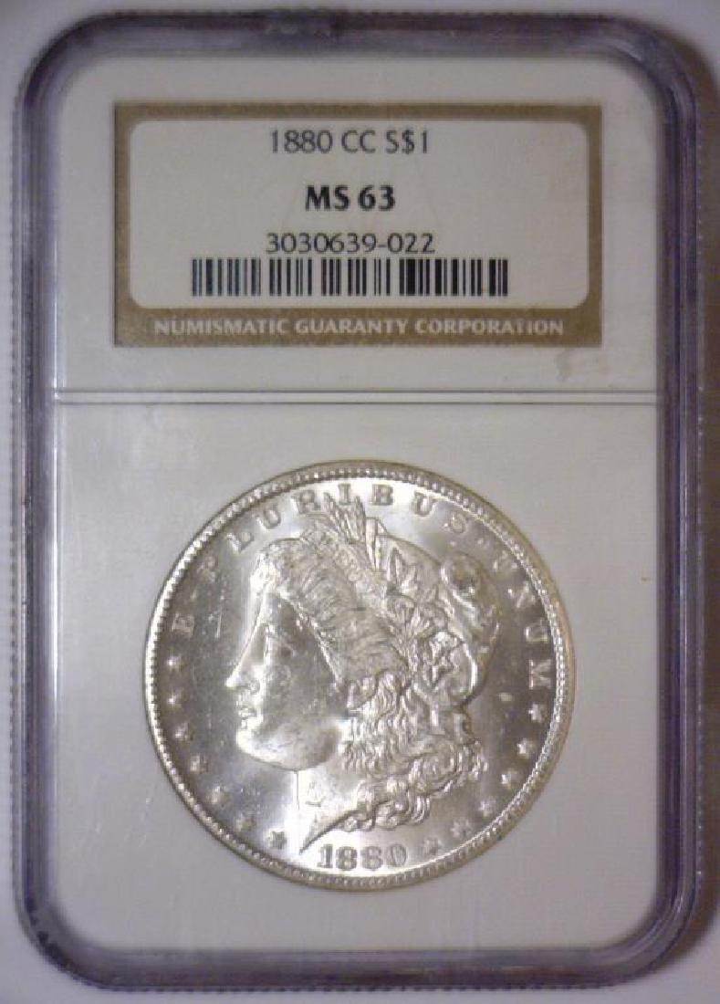 1880-CC Morgan Silver Dollar NGC MS63 - 2