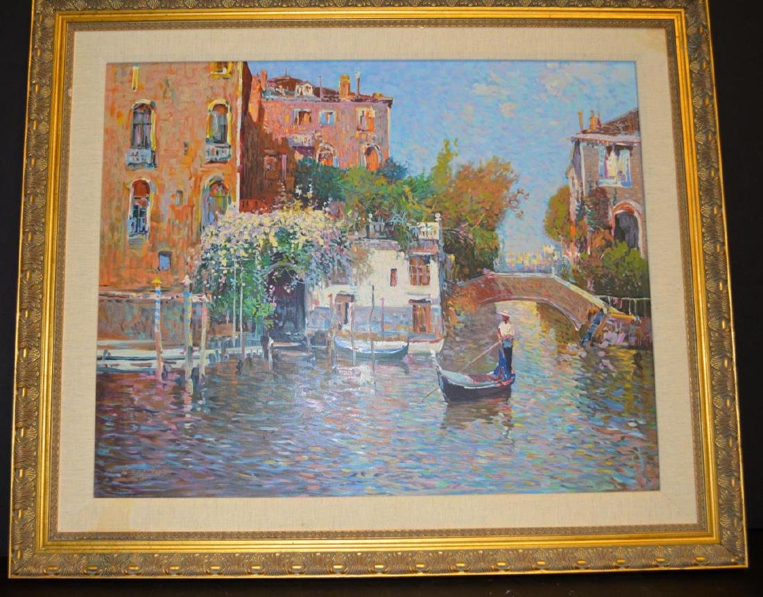 "Ming Feng ""The Gondolier"" S&N Serigraph on Canvas"