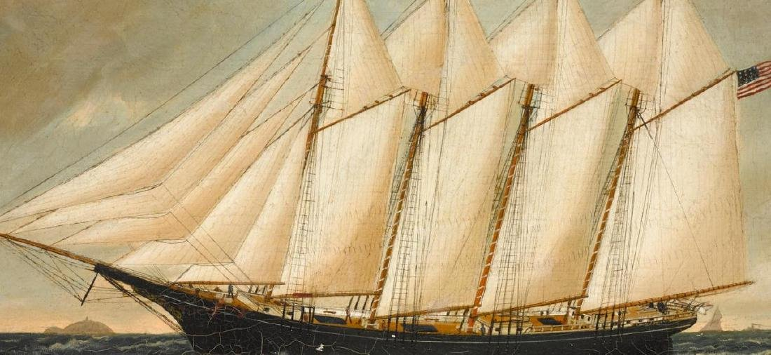W.P Stubbs Oil on Canvas Frank T. Stinson Schooner