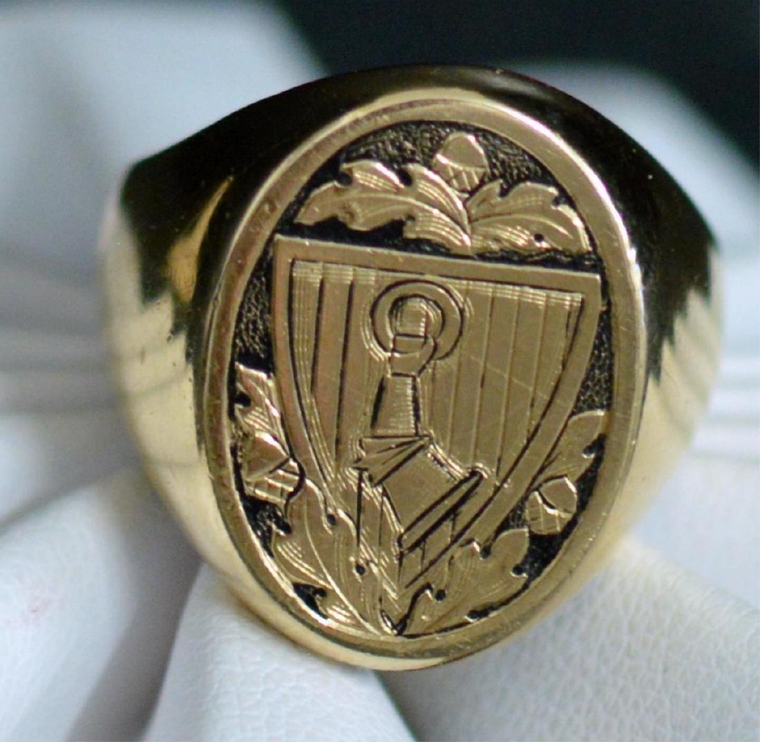 1934 Goring's 14kt Yellow Gold Signet Ring Sz 10.5