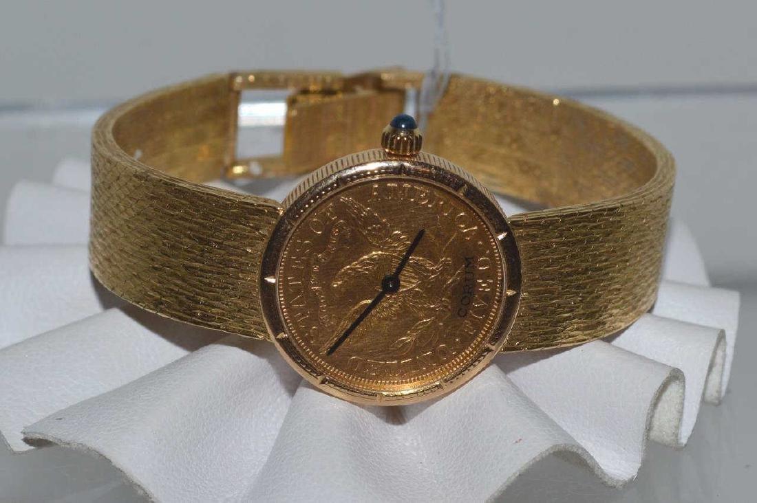 Ladies 18kt yellow gold Corum watch