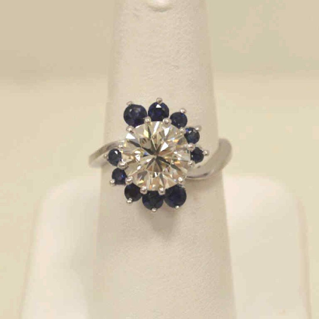 Platinum 3.05ct diamond engagement ring