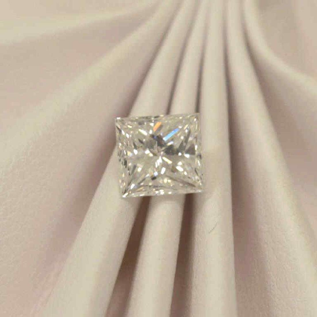 Loose 1.04ct princess cut diamond D/VS1, GIA - 2