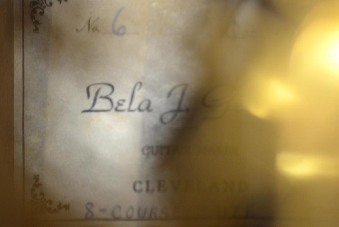 1979 Bela J. Gemza 8-Course Lute #6 of 7 w/Case - 14