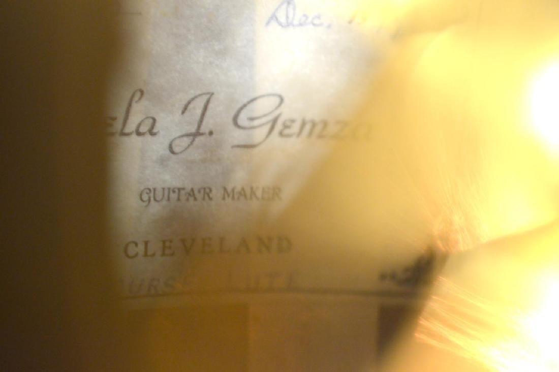 1979 Bela J. Gemza 8-Course Lute #6 of 7 w/Case - 15