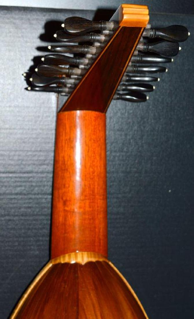 1979 Bela J. Gemza 8-Course Lute #6 of 7 w/Case - 6